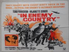 In Enemy Country, Original UK Quad Poster, Tony Franciosa, Anjanette Comer, '68